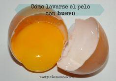 (ok) Champú de huevo (fácil y barato, pelo queda con vida y suave, limpio por más días, usar vinagre despues)