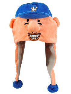 Milwaukee Brewers Hot Dog Mascot Themed Dangle Hat