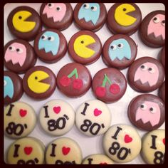 80s themed party cookies