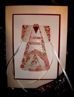 handmade card ... Japanese kimono ... iris folding ... gorgeous papers ...