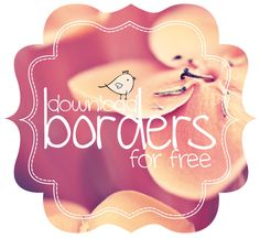 Free borders and bracket frames // free download - Pure Sweet Joy