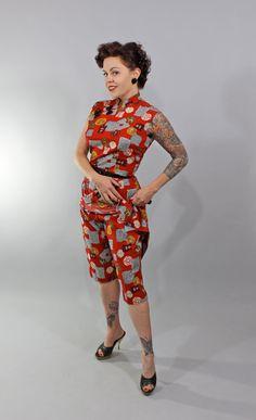 1950s Vintage DressALL DAY THROUGH Summer Fashion by stutterinmama, $238.00