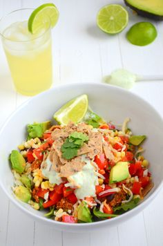 vegan: high protein taco salad...  This will take forever to make, but it might be worth the time.