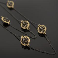 "Simone Deux $42 Mixed metals 36"" Maltese Cross necklace by Trésors De Luxe .com www.tresorsdeluxe.com { THE Ultimate In Luxurious, Affordable Jewelry ~ Trésors De Luxe .com }"