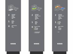 Signage System for Möbel Rieger, with BlocherBlocher Architects, 2011