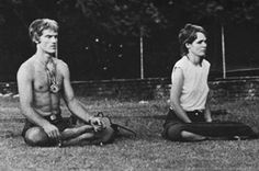Meditation and couple activity