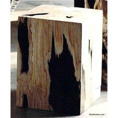 Roost Petrified Wood Block Stools
