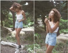 American Apparel Cotton Spandex Underwire Bustier, American Apparel High Waisted Shorts, Hi Top Converse