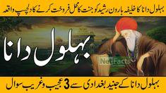 Behlol Dana Kon Tha || Behlol Dana Aur Haroon Rasheed || The Story Of Behlol Dana in Urdu and Hindi Islamic, History, History Books, Historia