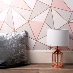A wide range of Wallpaper available to buy today at Dunelm, the UK's largest homewares and soft furnishings store. Bedroom Wall Designs, Room Design Bedroom, Home Room Design, Room Ideas Bedroom, Rose Gold Wallpaper, Wallpaper For Walls, Wallpaper Design For Bedroom, Interior Wallpaper, Wallpaper Decor