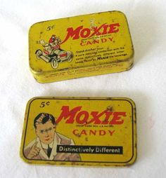 1920s Advertisements Candy | 1920 Vintage Moxie Candy Tin , Advertising Pocket Tin, Moxie Man ...