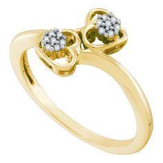 1/20CT-Diamond HEART RING
