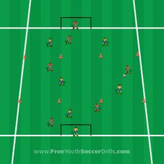 Check out this great passing soccer drill for U9's!