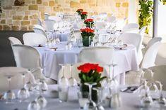 Asteras Events Area Χώροι Δεξιώσεων www.gamosorganosi.gr Table Settings, Table Decorations, Furniture, Home Decor, Decoration Home, Room Decor, Place Settings, Home Furnishings, Home Interior Design