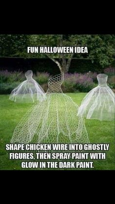 Cute Halloween outdoor decorating idea!