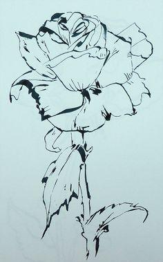 rose pen drawing - Google Search