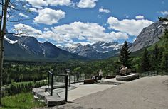 Village Vista Viewpoint on the Village Rim Trail in Kananaskis Country west of Calgary, Alberta, Canada