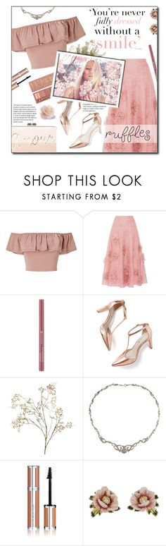 """Add Some Flair: Ruffled Tops"" by lady-of-rose ❤ liked on Polyvore featuring Miss Selfridge, Roksanda, Urban Decay, Boden, Pier 1 Imports, Susan Caplan Vintage, Givenchy, Les Néréides and BCBGMAXAZRIA"