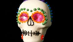 For Dia De Los Muertos this year, why not make this traditional sugar skull? Get the tutorial for this sweet calavera, on Babble! Halloween Treats, Halloween Diy, Halloween Decorations, Sugar Skull Art, Sugar Skulls, Crafts To Do, Crafts For Kids, Mexican Celebrations, Day Of The Dead Party
