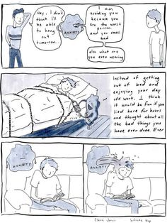 The way anxiety becomes a constant companion. | 24 Comics That Capture The Frustration Of Anxiety Disorders