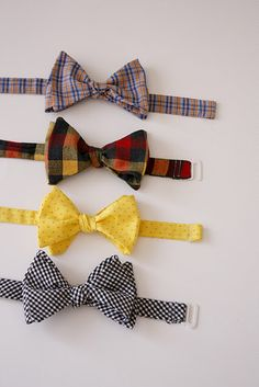 DIY: How to make bow tie. Don't know what use I'd have with a bow tie (Christmas gifts for all the guys?), but the idea is too fun!