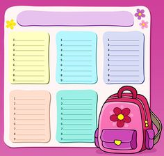 "Photo from album ""Расписание уроков"" on Yandex. School Planner, School Schedule, Timetable Template, School Timetable, Weekly Planner Template, School Labels, School Painting, Online Magazine, Bullet Journal School"
