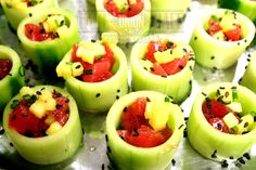 Tuna Poke Cucumber Cup