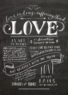 Layers of Loveliness Calligraphy + Design #love #chalkboard #handlettering