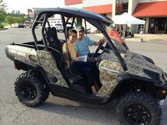 Thanks to Shana and Chase Barnes from Leakesville MS for getting a 2015 CanAm Commander XT 1000 at Hattiesburg Cycles