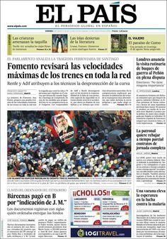 Los Titulares y Portadas de Noticias Destacadas Españolas del 9 de Agosto de 2013 del Diario El País ¿Que le pareció esta Portada de este Diario Español?
