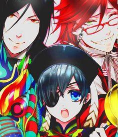 Sebastian Michealis | Ciel Phantomhive | Grell Sutcliffe | Black Butler | Kuroshitsuji | ♤ Anime ♤ | Manga