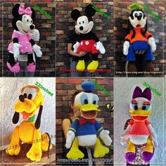Items similar to Mickey Mouse and the gang - Amigurumi crochet pattern on Etsy Cactus Amigurumi, Mini Amigurumi, Amigurumi Animals, Crochet Patterns Amigurumi, Amigurumi Doll, Crochet Dolls, Mickey Mouse Doll, Crochet Mickey Mouse, Toy Story Dolls