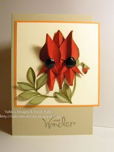 Sturt's desert pea punch art instructions  .. Her work ..Just rocks ... so amazing check her site  you wont regret it ..