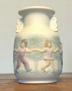 1984 Lladro Vase Children Playing Holding Hands Miniature Bisque Porcelain Urn  #Lladro