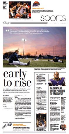 Sports, March 12, 2013. Layout and Photography.