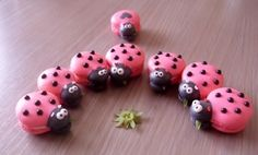 Pink ladybug macarons By meentje on CakeCentral.com