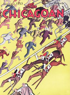 """""""The Racing Season"""" by J.H.E. Clark, cover of The Chicagoan, August 2, 1930"""