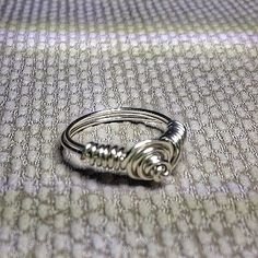 Handmade Heart Wire Wrapped Ring, silver plated All sizes ...