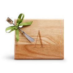 monogrammed cheese board