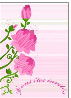 Carte Invitation mariage en rose pour envoyer par La Poste, sur Merci-Facteur !