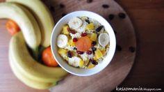 Kaszomania - pomysły na dania z kaszy jaglanej: Kasza jaglana z bananem i brzoskwinią