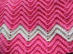 Crochet Ripple Baby Afghan by LilyLousCrochet on Etsy, $25.00