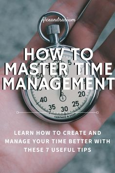 Read my post about seven steps anyone can cultivate to better time management. Time Management Techniques, Time Management Tools, Effective Time Management, Time Management Strategies, How To Be More Organized, Work Productivity, New Hobbies, Positive Mindset, Words Of Encouragement