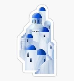 Stickers featuring millions of original designs created by independent artists. White or transparent. Greece Design, Santorini Island, Small Windows, Diy Stickers, White Houses, Sticker Design, Vinyl Decals, Bottle, Biology