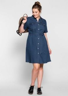 Denim Dress by Sheego Denim Jeans, Look Plus Size, Sheego, Shirt Dress, Casual, Shirts, Shopping, Clothes, Dresses