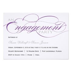 ReviewPurple Script Engagement Party Invitationso please read the important details before your purchasing anyway here is the best buy