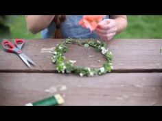 The most SIMPLE way to make a flower crown || REAL flowers - YouTube
