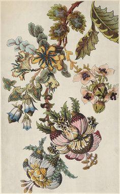 Японская фантазия Цветы Эти красочные Art Deco цветочные изображения