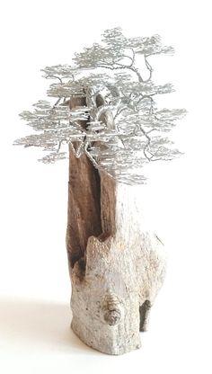 Driftwood Sculpture / Driftwood Art / Driftwood door BonsaiWireTree