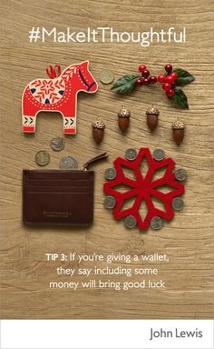 For the loved one who has everything, why not give them a little luck this Christmas? It's said that if you give a wallet, including some money will bring good luck.  From leather to novelty, find the perfect wallet at John Lewis - for gifts everyone will love.